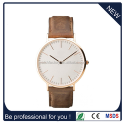 Alibaba China Factory price super fashion vogue quartz genuine leather DW watches