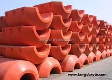 Orange Rotational Molding Plastic Buoy Floater, marine buoys