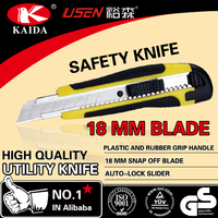 Top selling 18mm snap off blade auto lock utility cutter knife
