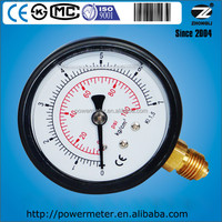 63mm 2.5inch ABS plastic oil pressure gauge for dual scale 7Kg 100psi with ce en837-1