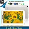 ZXS-8-N-3G New Items quad core mobile phone android4.4 3g calling function tablet pc with IPS screen 1280*800 Mid factory