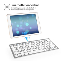 Ultra slim mini wireless bluetooth keyboard,bluetooth keyboard for tablet pc