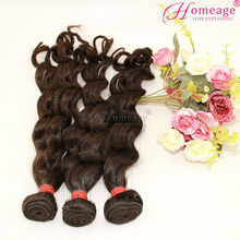 Homeage 2014 nueva llegada de mejor venta 100% 5a+ magia singular humano virgen india al por mayor de productos para el cabello