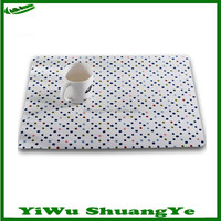 wholesale in China cheap placemat with fashion round dot design