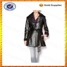 Custom Riding Jacket Leather Motorcycle Riding Jacket Womens Leather Long Jacket Wholesale