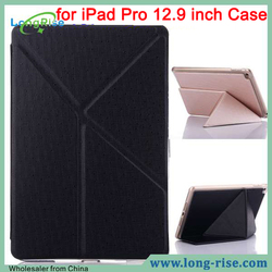 Factory Price Flip Leather Stand Cover for iPad Pro 12.9 inch Case, Black