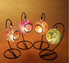 spray glass mosaic candle holder for lovers , table centerpieces candle holer