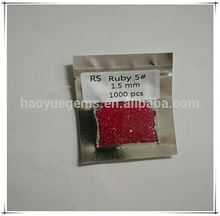 hot sale factory hot sale #5 ruby 1mm round diamond gemstones ruby stone loose diamond/diamond beads