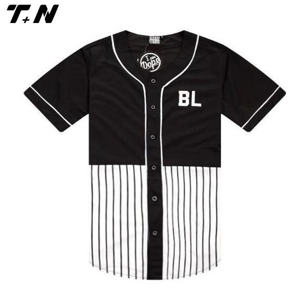 Custom sublimation pinstripe baseball jersey wholesale for Custom baseball tee shirts