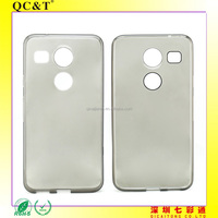 Wholesale Soft TPU Clear Phone Case without texture for LG nexus 5