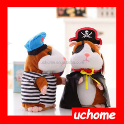 UCHOME Pirate Hamster Talking Stuffed Animals Repeat What You Say