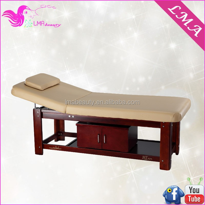 Ma 41 wooden spa bed wood massage table bed for beauty for Beauty salon bed