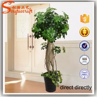 wholesale green artificial plant decorative make cheap outdoor artificial ornamental plants and trees