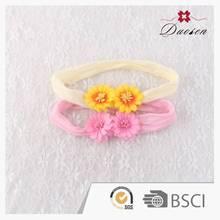 Bargain Sale Natural Color White Flower Baby Headbands Rose Girls Hair Bands