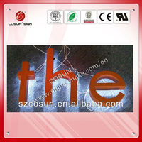 china costomized advertising backlit stainless steel led letters signs and 3d sign letters