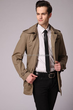 New Design High Quality Men Fashion Outdoor Casual Long Windbreaker Trench Coat