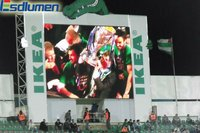 High definition P16 Outdoor Fullcolor advertising football Stadium led display control card
