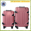 New Fashionable Hot Sale Travel Business Hard Pink ABS/PC Luggage Sets