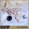 Wholesale Crystal Earring China Factory Products Lover Gold Earrings Women