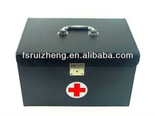 Black leather first aid emergency kit RZ-SFA-022