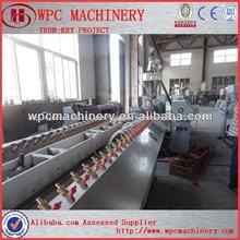 wpc compuesto de pvc de la máquina cerca para hacer la puerta del piso decorativo panel de muebles