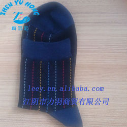 Mercerized Cotton/Elastic Rib Top, Business Socks For Men, Top Selling Socks Shape