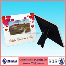 Ceramic picture photo frame wholesale for wedding
