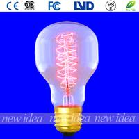 spiral filament bulb, decorative edison light bulbs BT55 25W/40W/60W