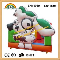 Lovely dog design inflatable bouncer inflatable castle hot sale inflatable dog style bounce house
