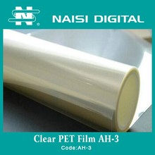 clear PET Transparent Film for Inkjet digital printing