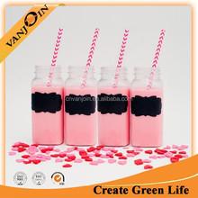 Wedding Favor Fruit Juice Square Bottle 8oz Wholesale