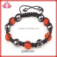 Handmade shamballa macrame bracelets (QXBR11055)