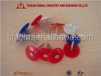 yellow/blue/red/green/white Plastic Cap Roofing Nails