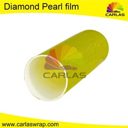 Yellow Car pearl metal paint colors vinyl wrap car with whole car