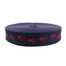 Foot pattern polyester webbing belt for pet dog
