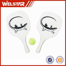Promotional Racket Beach Tennis Ball with Long Handgrip Wooden Tennis Beach Racket