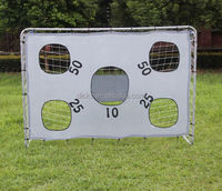 Large Football goal post with shooting target