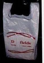 """wholesale cb-329 Promotional Product - Low Density Plastic T Shirt Bag (7""""x4""""x18"""")"""