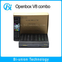 V8 combo openbox hd satellite receiver price open box v8 combo decoder biss key