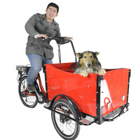 CE bakfiets family 3 wheel front loading cargo electric tricycle bicycle for sale