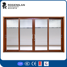 ROGENILAN 120 series german style aluminum heavy lift sliding door with electrical louvers inside