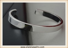 Solid Sterling Silver Bracelet, blank Sterling Silver Cuff Bracelet, Customized with Your Personal Message