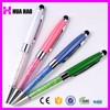 Office Supply Customized Crystal and Metal Twist Ballpoint Pen,Jeweled crystal bling pen with logo,crystal ball pen