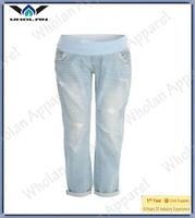 comfortable pregnant women denim pants/jeans