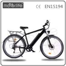 """MOTORLIFE EN15194 2015 hot sale inner lithium removable battery 36V 26"""" electric Hybrid bike"""
