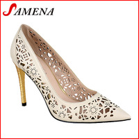Womens high heel pu shoes