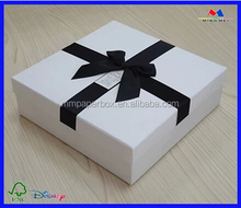 2015 christmas decorations packaging box ballotin boxes , white gift box with ribbon