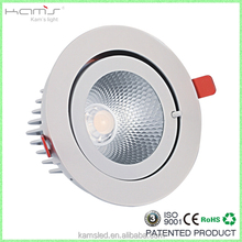 SAA approved cut out 145-150mm 20w 25w round dimmable led downlight with 360deg adjustable shop light