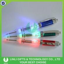 Hot Selling Colorful Logo Metal/Plastic Led Pen