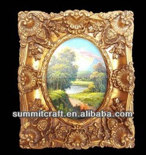 mano de pintura de resina clásica pintura al óleo marcos antiguos